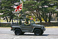 JGSDF Type73 (new) Kogata Truck (12th Br.) &Flag of JSDF.jpg