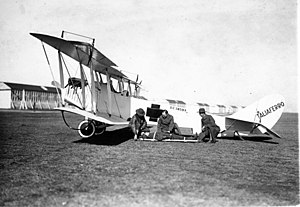Curtiss JN-4 - Converted JN-4 ambulance, operated by the Camp Taliaferro medical teams, around 1918