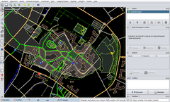 JOSM with single OpenStreetMap data layer (standard rendering style)