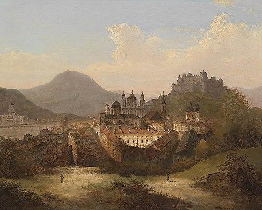 J Wilhelm Jankowsky Blick auf Salzburg