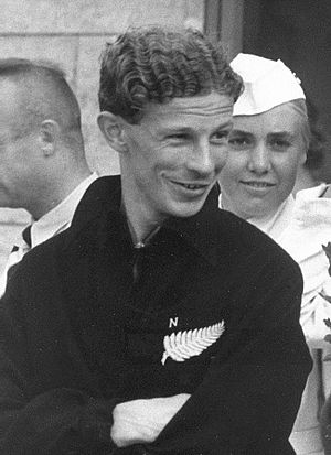 Jack Lovelock - Lovelock at the 1936 Olympics