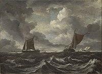 Jacob van Ruisdael - Boats on a Stormy Sea.jpg
