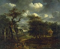 Jacob van Ruisdael - Landscape, trees and houses - 1940-12-1 - Auckland Art Gallery.jpg