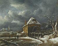 Jacob van Ruisdael - Winter Landscape with a Watermill.jpg