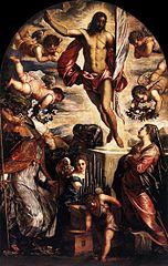 Resurrezione di Cristo con san Cassiano e santa Cecilia