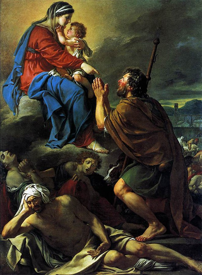 Saint Roch interceding with the Virgin