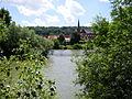 Jagstmündung Neckar Abtei Wimpfen im Tal.JPG
