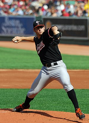 Jake Arrieta - Arrieta pitching for the Norfolk Tides in 2009