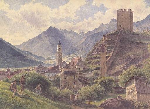 Jakob Alt - Ansicht von Meran - 1845