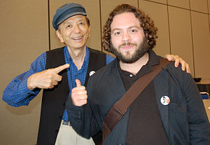 Balls of Fury - James Hong with Dan Fogler at the 2007 Comic-Con convention for a panel on the film
