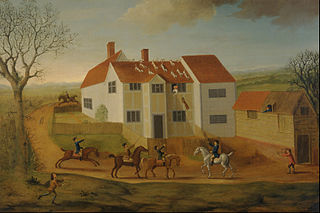 John Sidey and his Hounds at a Farmhouse near Hadleigh, Suffolk