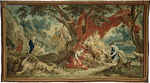 Jan van Orley - Resting Diana, from the 'Triumph of the Gods' tapestry series