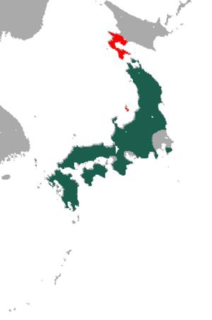 Japanese marten - Image: Japanese Marten area