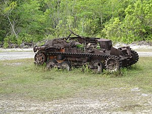 National Register of Historic Places listings in Palau - Image: Japanese World War II Tank at Peleliu