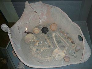 Jar-Burial Culture - Jar-Burial grave in Azerbaijan State Museum of History.