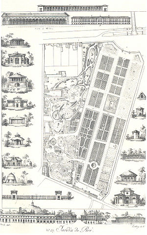 Félix Delahaye - Plan of the Jardin des Plantes, Paris, in 1820. Delahaye joined the staff in 1788 aged 20 as a young gardener and was eventually promoted to the position of Director of Horticulture