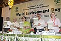 "Jayanthi Natarajan releasing the book ""Animal Discoveries-2012"", at the World Environment Day function on the theme ""Think, Eat, Save Reduce Your Foodprint"", in New Delhi. The Member, Planning Commission.jpg"