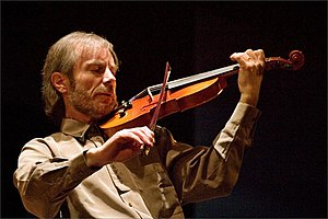 Jazz violin -  French jazz violinist Jean-Luc Ponty is an influential jazz-rock fusion performer