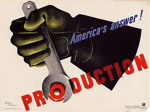 Jean Carlu WWII Propaganda poster