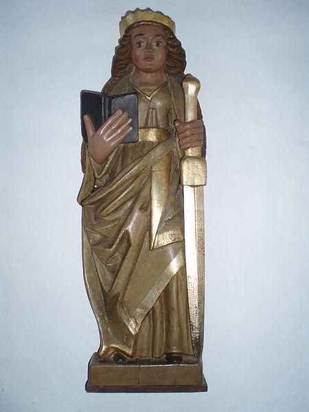 File:Jelling Kirke 11 Catharina af Alexandria.JPG