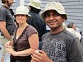 Jen Hammock ^ Vitthal Kudal making a fashion statement with the new EOL hat - Flickr - treegrow.jpg