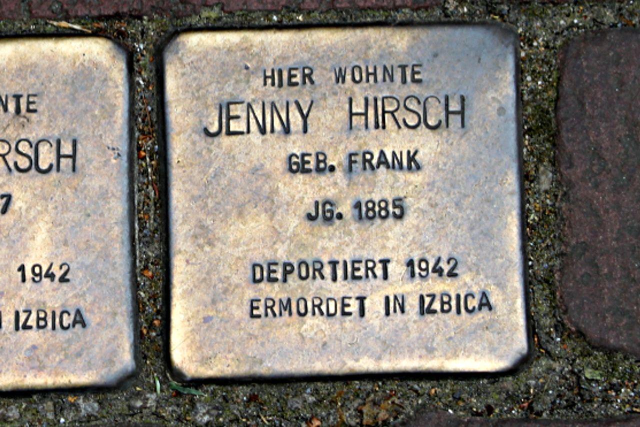Stolperstein für Jenny Hirsch