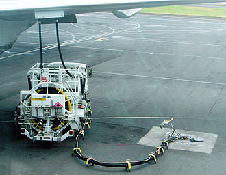 Aviation fuel - At some airports, underground fuel pipes allow refueling without the need for tank trucks. Trucks carry the necessary hoses and pressure apparatus, but no fuel.