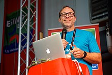 Jimmy Wales at Wikimania 2016 Esino Lario (27772489982).jpg