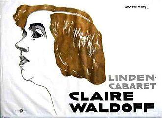 Claire Waldoff - Claire Waldoff poster, 1914