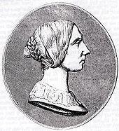 Johanna Kinkel, Stich um 1855 (Quelle: Wikimedia)