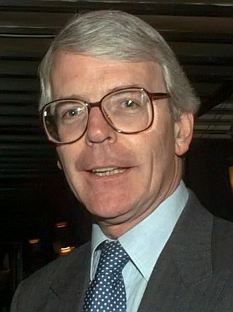 John Major, Prime Minister of the United Kingdom (1990-1997) John Major 1996.jpg
