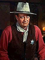 Screenshot of John Wayne from the trailer for the film, Rio Bravo.