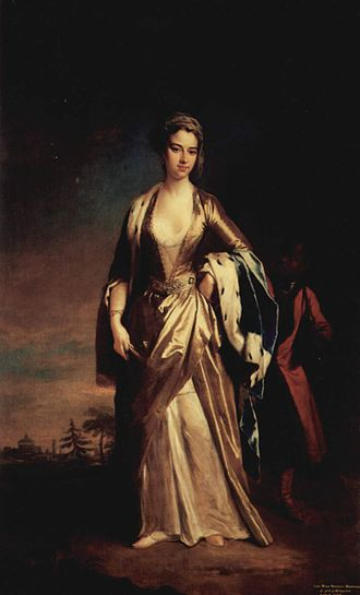 Lady Mary Wortley Montagu - A painting of Mary Wortley Montagu by Jonathan Richardson the Younger