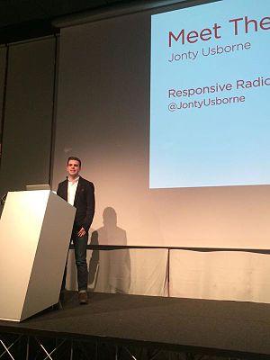 Jonty Usborne - Usborne speaking at the 2015 Radiodays Europe conference in Milan