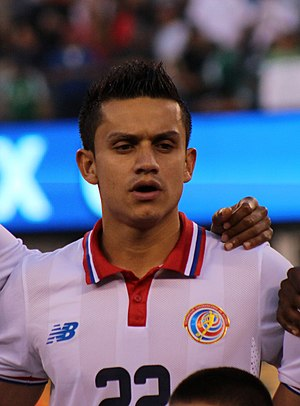 José Miguel Cubero - Cubero singing the Costa Rican national anthem before a match against Mexico at the 2015 CONCACAF Gold Cup