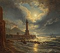 Joseph Rebell - Leuchtturm im Hafen von Neapel bei Mondschein - 6217 - Österreichische Galerie Belvedere.jpg