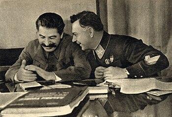Staline et vorochilov en 1935
