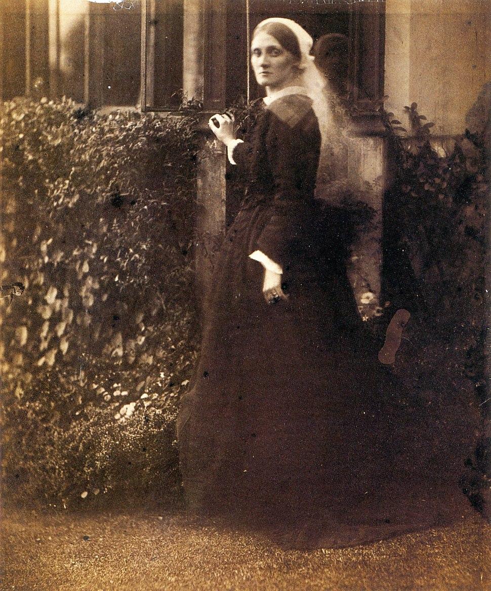 Julia Duckworth in Garden, by Julia Margaret Cameron