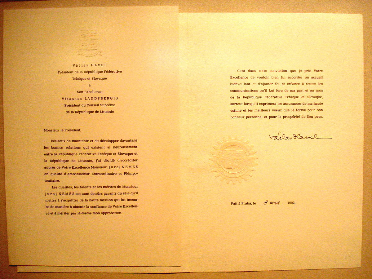 Letter of credence - Wikipedia