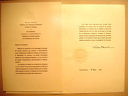 letter of credence