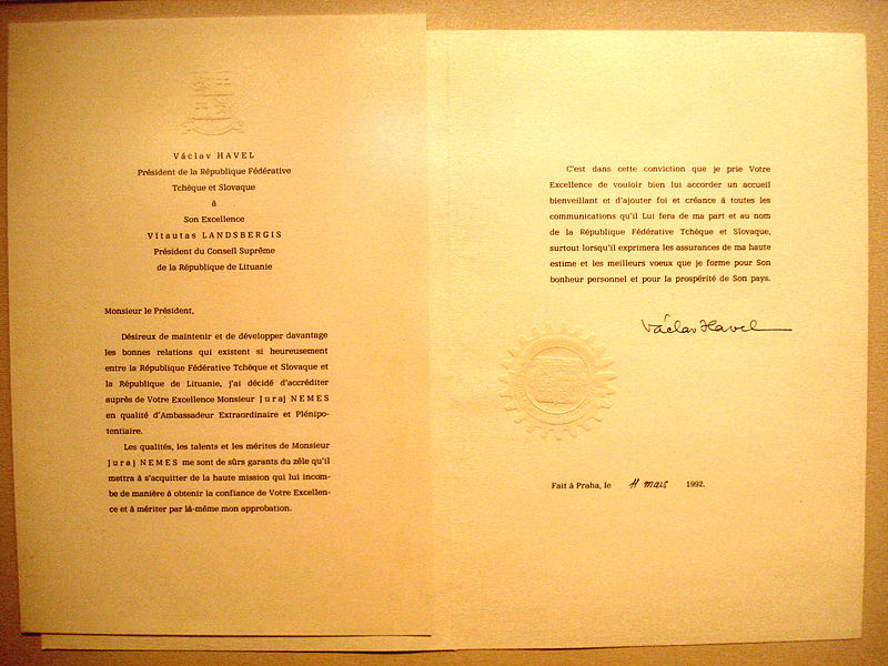 Juraj Neme%C5%A1 letter of credence.JPG