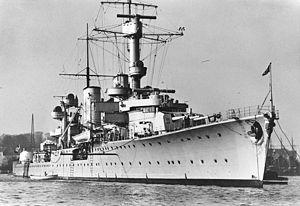 Königsberg-class cruiser (1927) - Königsberg in 1936