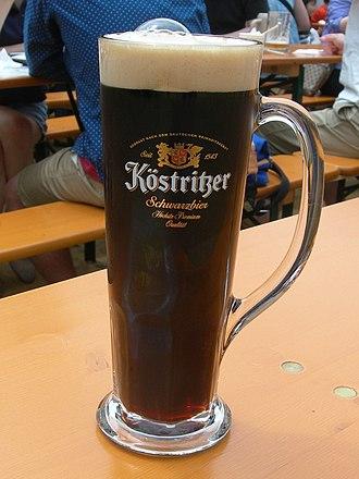 Schwarzbier - Köstritzer, an example of a Schwarzbier, here exported in Asia
