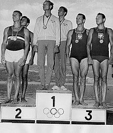 K-2 1000 metres medalists at 1960 Summer Olympics.jpg