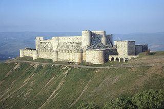 Krak des Chevaliers Crusader castle near Homs, Syria