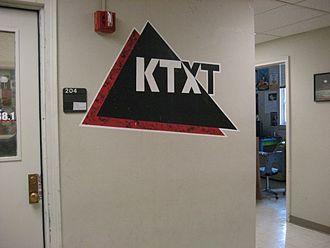 KTXT-FM - Logo in KTXT studio