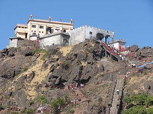 Kalika Mata Temple, Pavagadh - Kali Mata Temple with pathway of steps, Gujarat