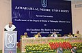 Kapil Sibal addressing at the conferment of the Degree of Doctor of Philosophy (Honoris Causa) on the President of the Russian Federation, Mr. Dmitry A. Medvedev, at a Special Convocation of the Jawaharlal Nehru University.jpg