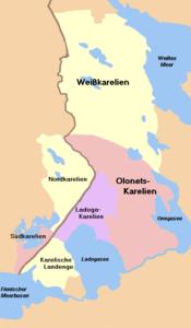 Historische Aufteilung Kareliens