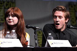 Arthur Darvill - Karen Gillan and Arthur Darvill at Comic-Con 2012.